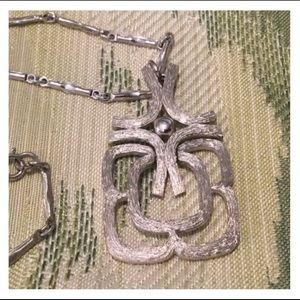 Vintage Silver Pendent Chain Necklace